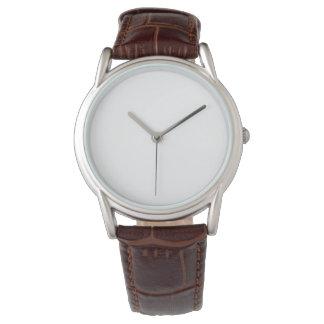Manar läder för klassikerbruntet fäster klockan armbandsur