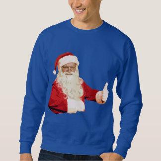 Manar rolig bästa Longsleeve för Santa jul skjorta Lång Ärmad Tröja