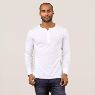 Manar skjorta för kanfasHenley långärmad, vit Tee Shirt