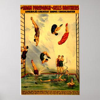 Manar som dyker in i affischen 1898 för poster