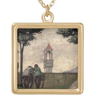 Manar som tittar över en vägg, från umgänget (fres guldpläterat halsband