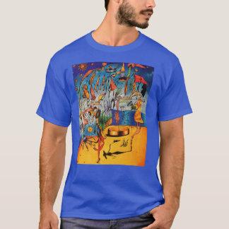 Manar surrealistiska utslagsplats tee shirts