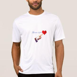 Manar t-skjorta med hjärtadesign tröjor