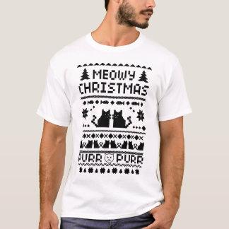 Manar T-tröja för ful katt för Meowy jul rolig Tröja