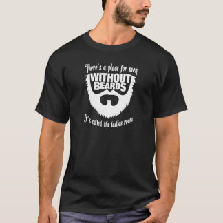 Manar utan mörka utslagsplatsskjortor för skägg t shirts