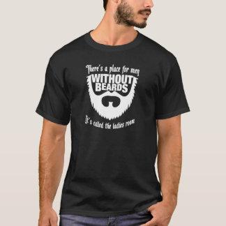 Manar utan mörka utslagsplatsskjortor för skägg tee