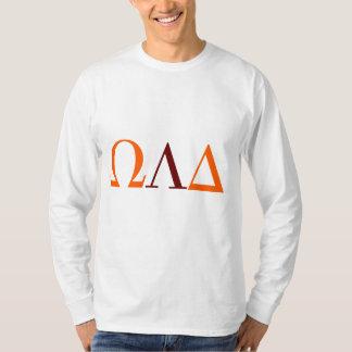 Manar utslagsplats för långärmad för Omega Lambda Tee Shirt