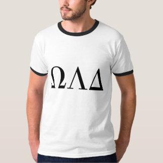Manar utslagsplats för Ringer för Omega Lambda T-shirts
