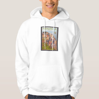 Manarola vingårdsolnedgång (svarten) sweatshirt