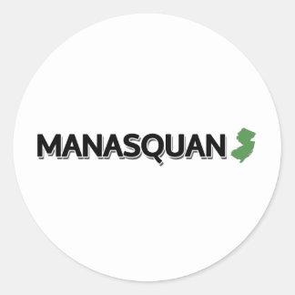 Manasquan som är ny - jersey runt klistermärke