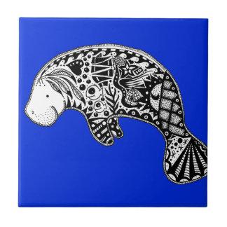 Manateeblått Kakelplatta