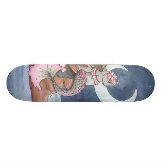 Månbelyst förråd old school skateboard bräda 18 cm