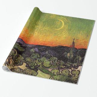 Månbelysta Vincent Van Gogh landskap Presentpapper