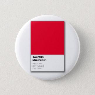 Manchester är RÖD Standard Knapp Rund 5.7 Cm