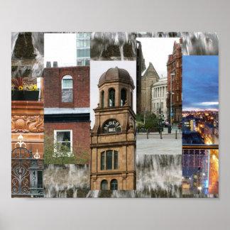 Manchester beskådar poster