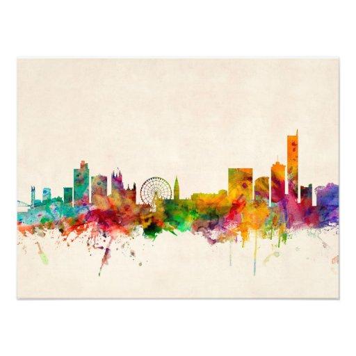 Manchester England horisontCityscape Fotografi