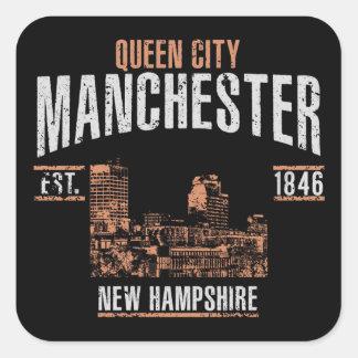 Manchester Fyrkantigt Klistermärke