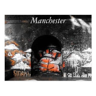 Manchester järnvägbåge vykort