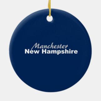 Manchester New Hampshire prydnad Julgransprydnad Keramik