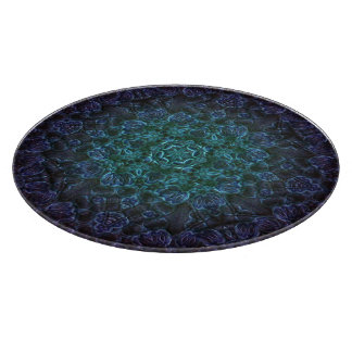 Mandala för Aqua-Hjärta lavendel II