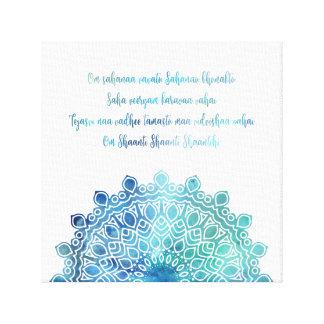 Mandala för bön för öppning för Yoga för Canvastryck