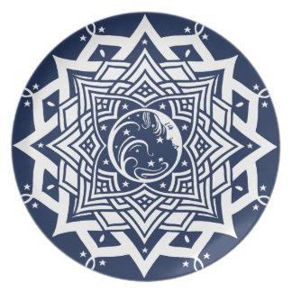 Mandala för damblåttmåne tallrik