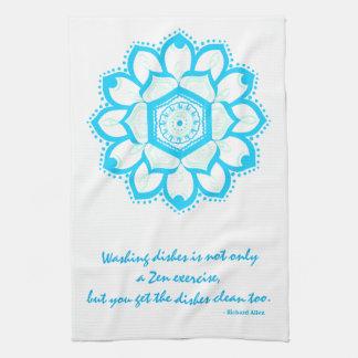 Mandala för för Zendiskcitationstecken och blått Kökshandduk