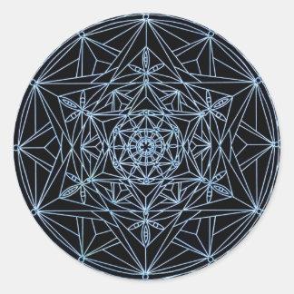 Mandala för klistermärkestjärnaabstrakt runt klistermärke