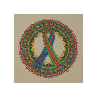Mandala för Metastatic bröstcancer Trätavla