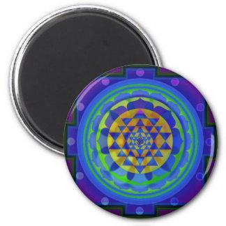 Mandala för Om (AUM) Yantra Magnet Rund 5.7 Cm