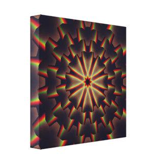 Mandala för regnbågar 3D Canvastryck