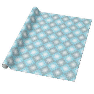 Mandala för vit för mönster för blåttgrå presentpapper