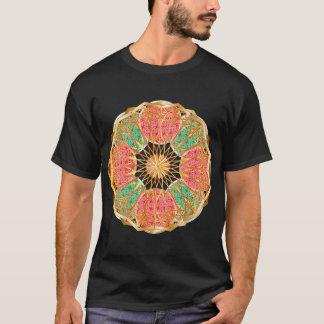 Mandala i mässing och guld tee shirt