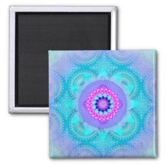 Mandala ID129 för lotusblommablomturkos Magnet