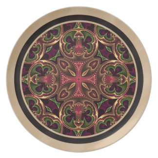 Mandala Kaleidoscopic korabstrakt Tallrik