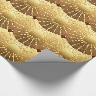 Mandala med stjärnor - guld- satänglutning presentpapper