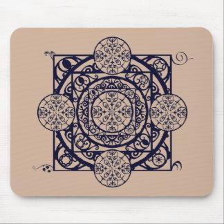 Mandala Mousepad för kompass för Nouveau Mus Matta