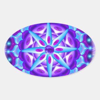 Mandala Planula Ovalt Klistermärke