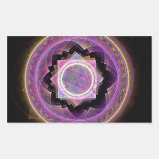 Mandala Rektangulärt Klistermärke