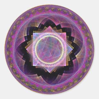 Mandala Runt Klistermärke