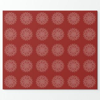 Mandala som slår in rött papper - djupt - presentpapper