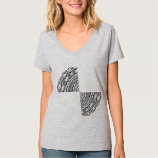 Mandala som varvar t-skjortan t shirt