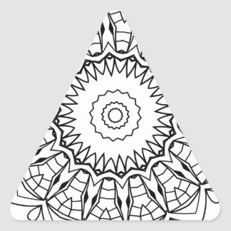 Mandala Triangelformat Klistermärke