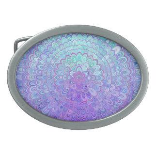 Mandalablomma i ljust - blått och lilor