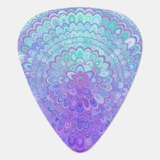 Mandalablomma i ljust - blått och lilor plektrum