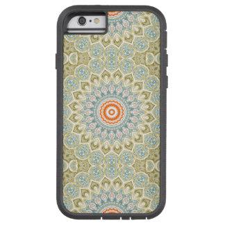 Mandalamedaljong i grönt, blått och orange tough xtreme iPhone 6 case