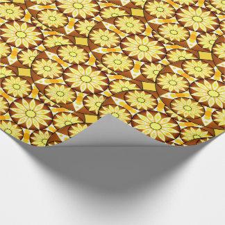 Mandalamönster, skuggar av brunt och guld presentpapper