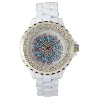 Mandalawatch-White. Armbandsur