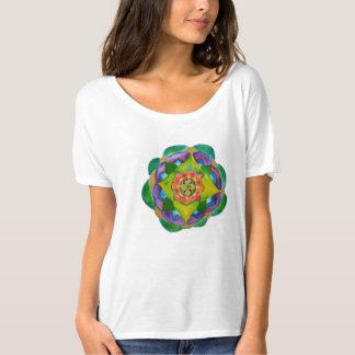 Mandalla målningkvinna Bella Flowy enkla T-Shi T-shirt