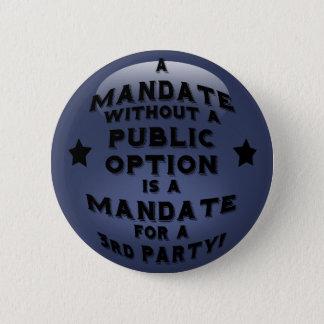 Mandat Standard Knapp Rund 5.7 Cm